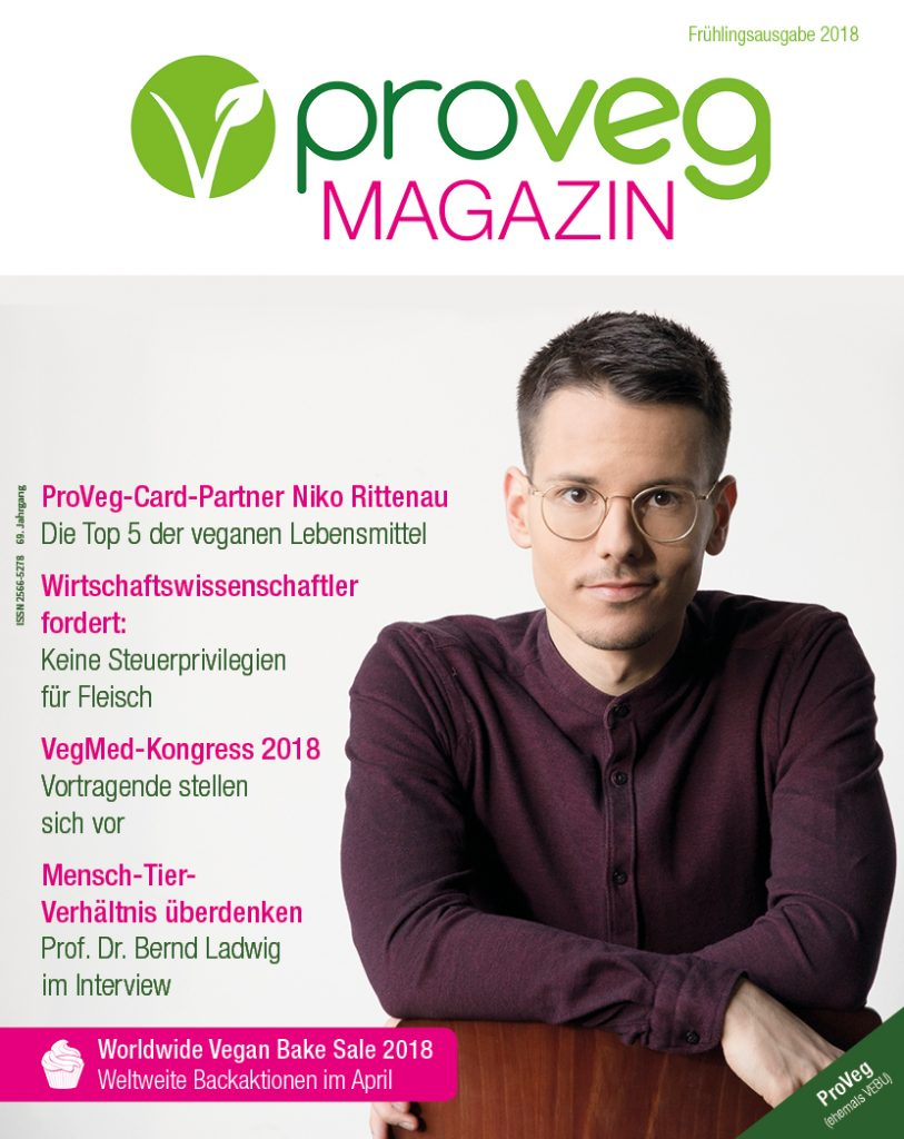 PINK natural energy im ProVeg Magazin